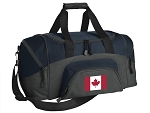 SMALL Canada Flag Gym Bag Canada Duffle Navy