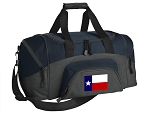 SMALL Texas Gym Bag Texas Flag Duffle Navy