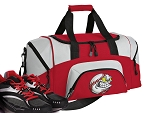 SMALL Baseball Gym Bag Baseball Fan Duffle Red
