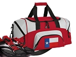 SMALL Texas Gym Bag Texas Flag Duffle Red