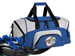 SMALL Baseball Gym Bag Baseball Fan Duffle Blue