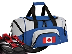 SMALL Canada Flag Gym Bag Canada Duffle Blue