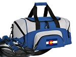 SMALL Colorado Flag Gym Bag Colorado Duffle Blue
