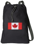 Canadian Flag Cotton Drawstring Bag Backpacks