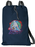 Field Hockey Cotton Drawstring Bag Backpacks RICH NAVY