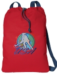 Field Hockey Cotton Drawstring Bag Backpacks COOL RED