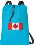 Canada Cotton Drawstring Bag Backpacks COOL BLUE