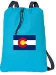 Colorado Cotton Drawstring Bag Backpacks COOL BLUE