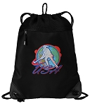 Field Hockey Drawstring Backpack-MESH & MICROFIBER
