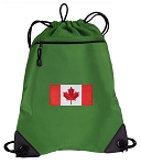 Canada Drawstring Backpack Mesh and Microfiber