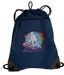 Field Hockey Drawstring Backpack-MESH & MICROFIBER Navy
