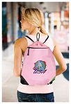 Field Hockey Drawstring Bag Mesh and Microfiber Pink