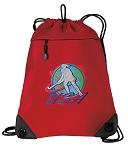 Field Hockey Drawstring Backpack MESH & MICROFIBER Red