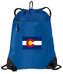 Colorado Drawstring Backpack MESH & MICROFIBER Blue