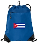 Cuba Drawstring Backpack-MESH & MICROFIBER Blue