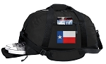 Texas Flag Duffel Bag with Shoe Pocket
