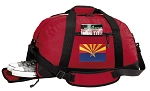 Arizona Duffel Bag with Shoe Pocket Red