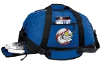 Baseball Duffel Bag with Shoe Pocket Blue