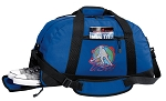 Field Hockey Duffel Bag with Shoe Pocket Blue