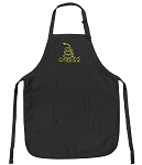 Deluxe Don't Tread on Me Apron Black