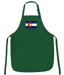 Deluxe Colorado Apron Green