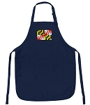 Deluxe Maryland Apron Navy