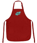 Deluxe Christian Theme Apron Red