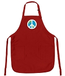 Deluxe World Peace Apron Red