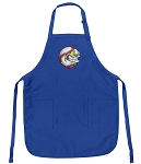 Deluxe Baseball Fan Apron Blue