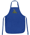 Deluxe Don't Tread on Me Apron Blue