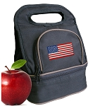 American Flag Lunch Bag 2 Section