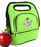 Cute Cats Lunch Bag 2 Section Lime