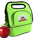 California Flag Lunch Bag 2 Section Lime