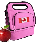 Canadian Flag Lunch Bag Pink