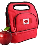 Canadian Flag Lunch Bag Red