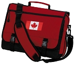 Canadian Flag Messenger Bag Red