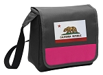California Flag Lunch Bag Cooler Pink