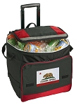 California Flag Rolling Cooler Bag Red