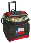 Texas Flag Rolling Cooler Bag Red