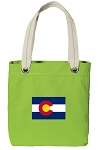 Colorado Tote Bag RICH COTTON CANVAS Green
