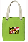 Maryland Tote Bag RICH COTTON CANVAS Green