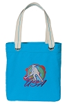 Field Hockey Tote Bag RICH COTTON CANVAS Turquoise