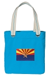 Arizona Tote Bag RICH COTTON CANVAS Turquoise