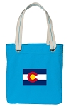 Colorado Tote Bag RICH COTTON CANVAS Turquoise