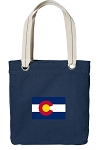 Colorado Tote Bag RICH COTTON CANVAS Navy