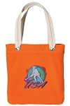 Field Hockey Tote Bag RICH COTTON CANVAS Orange