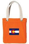 Colorado Tote Bag RICH COTTON CANVAS Orange