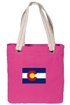 Colorado Tote Bag RICH COTTON CANVAS Pink
