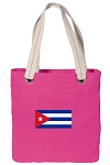 Cuban Flag Tote Bag RICH COTTON CANVAS Pink