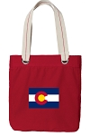 Colorado Tote Bag RICH COTTON CANVAS Red